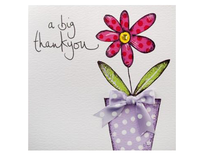 Derbyshire Fascia thank you card