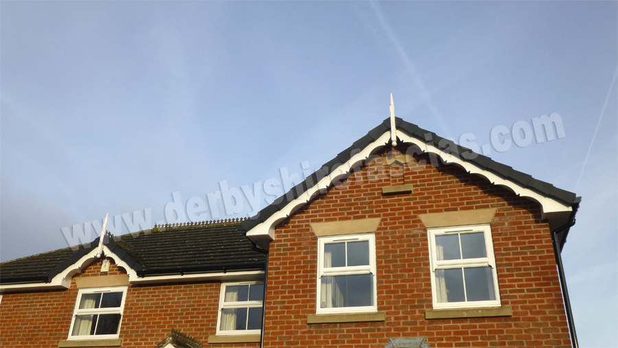 derbyshire fascias white decorative bargeboard and finial