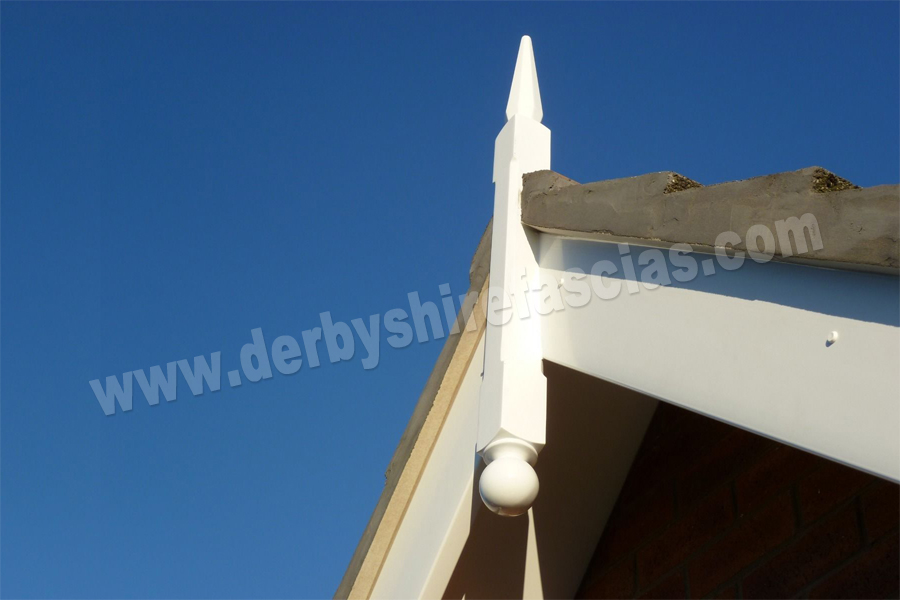 derbyshire fascias white finial