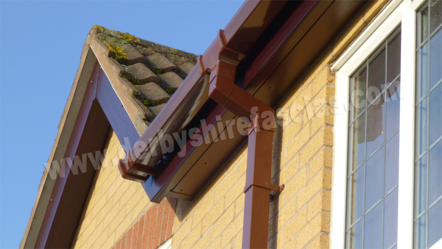derbyshire fascias brown guttering