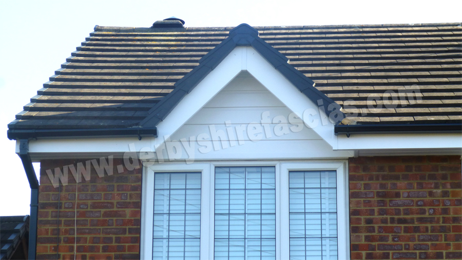 White PVCu Cladding by Derbyshire Fascias