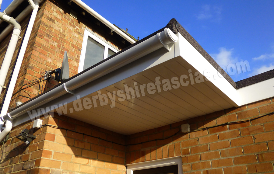 Derbyshire fascias have transformed this canopy's appearance